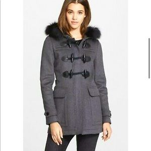 Burberry wool trench jacket